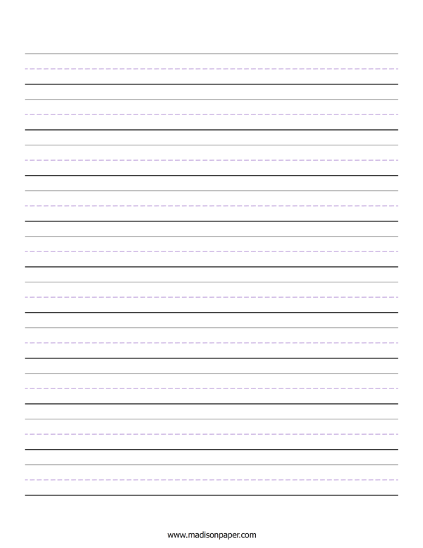 Lined Handwriting Paper (Printable PDF) - Madison's Paper Templates